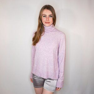 J. CREW Pink Turtleneck Sweater In Supersoft Yarn
